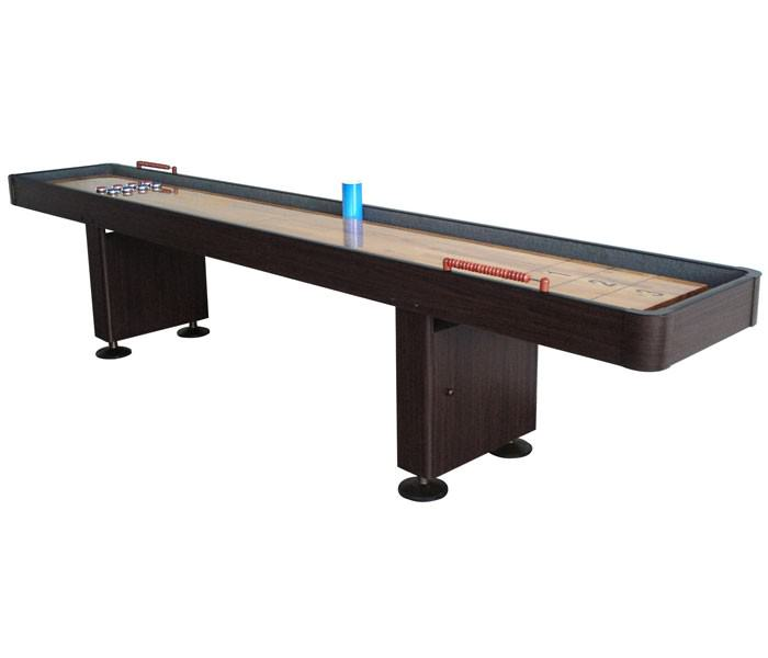 Carmelli NG1212 - 12 Foot Deluxe Shuffleboard Table - Walnut
