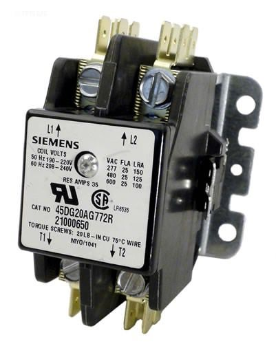 Coates Double Pole Contactor, 35 Amp, 240V - 21000650