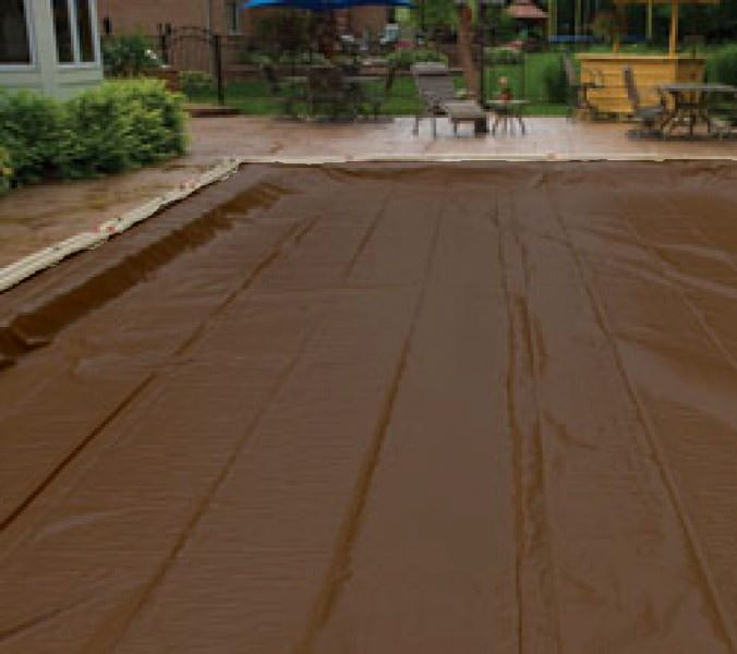 In Ground Pool Winter Cover For 25 ft x 45 ft Pool 25 yr Warranty