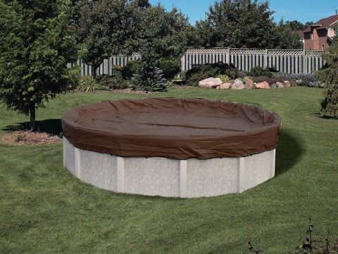 Above Ground Pool Winter Cover For 33 ft Round Pool 25 yr Warranty
