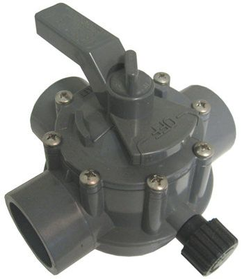 Jandy 2-Way 2 Inch x 2.5 Inch Gray Diverter Valve 2876