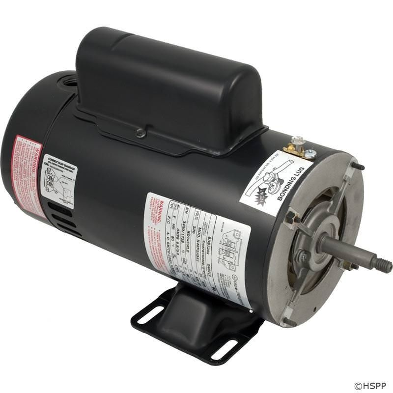 AO Smith MGT-60-5201 - BN51 2-Speed Pump Motor 48Y Frame 2 HP Thru Bolt 230V