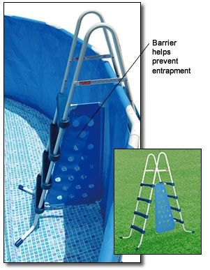 A-Frame Above Ground Pool Ladder with Barrier - 52 Inch