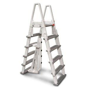 Confer A-Frame Heavy Duty Adjustable Ladder for Above Ground Pools