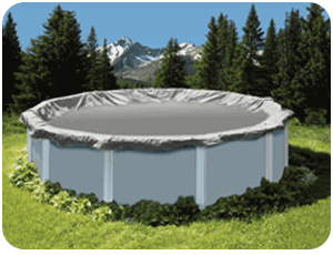 Above Ground Pool Winter Cover For 16 ft / 18 ft Round Pool 15 yr Warranty
