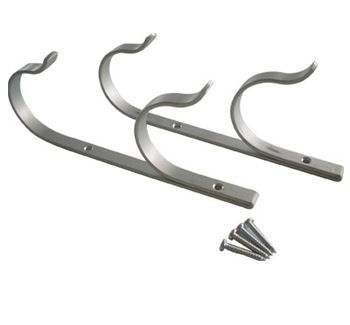 Aluminum Pole Hangers with Screws - Set of 2
