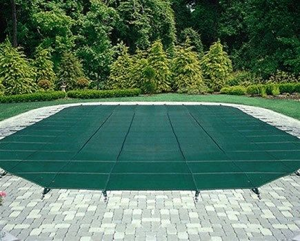 Arctic Armor Green Mesh Safety Cover for 12 ft x 24 ft Pool - 12 Year Warranty
