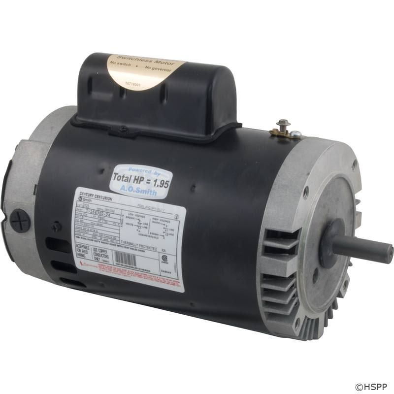 B123 Pool Pump Motor 56C Frame 1.5 HP Keyed Shaft 115V/230V