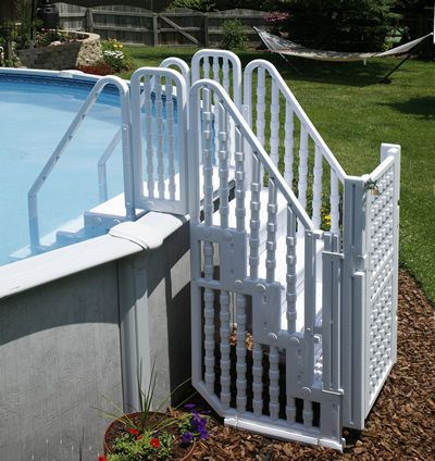 Blue Wave Easy Pool Step Entry System with Gate NE138