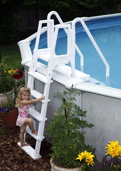 Blue Wave NE126 - Blue Wave Easy Pool Step with Outside Ladder - NE126