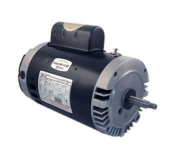 B977 2-Speed Pump Motor 56J Frame 1.5 HP C-Face 230V