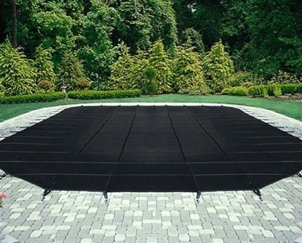Commercial Black Mesh Safety Cover for 15 ft x 30 ft Pool - 25 Year Warranty