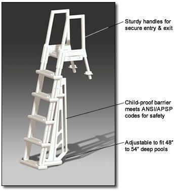 Deluxe Heavy Duty In-Pool Ladder for Above Ground Pools