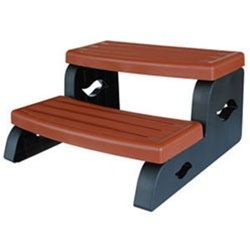 Leisure Concepts LSI-85-1012 - DuraStep II Redwood Brown Spa Step