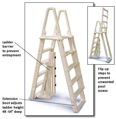 A-Frame Evolution Flip Up Ladder for Above Ground Pools