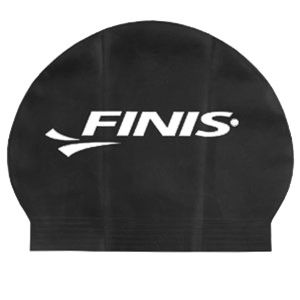 Finis Solid Black Latex Swim Cap