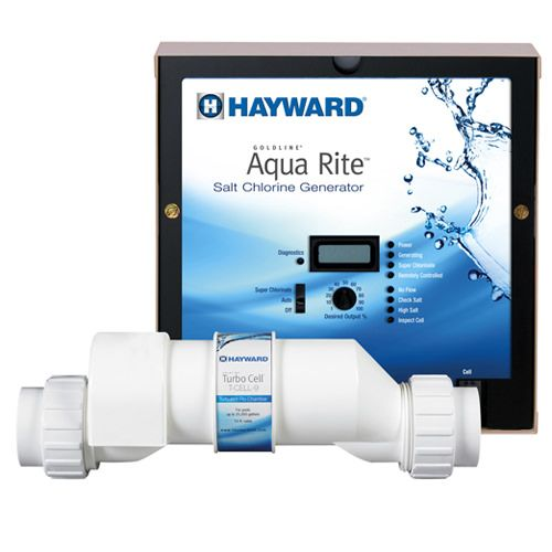 Hayward Aqua Rite Saltwater Chlorinator with Turbo Cell - 25k Gallon