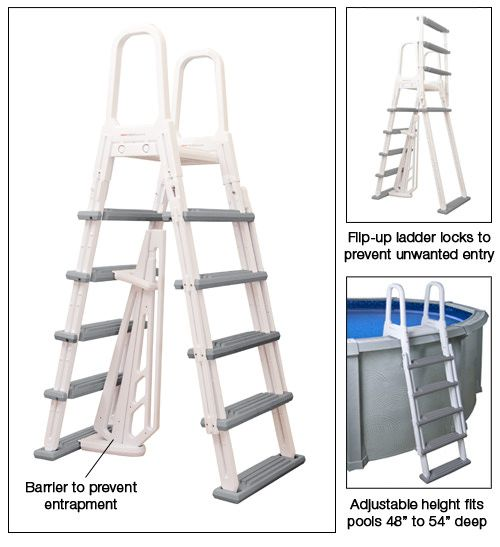 Heavy Duty Above Ground Pool A-Frame Ladder NE1202