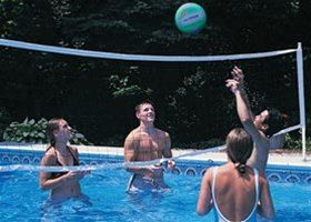 Huffy Pool Volleyball Set with Net, Poles and Ball