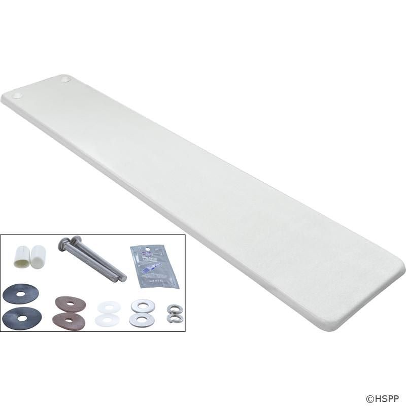 Interfab Techni-Beam Swimming Pool Diving Board - 8 Ft - White