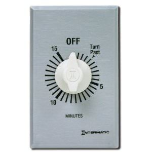 Intermatic INT-30-930 - Intermatic 15 Minute Spring Wound Wall Timer FF15MC