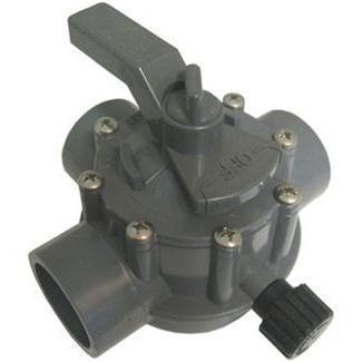 Jandy 3 Way 1.5 Inch x 2 Inch Positive Seal Gray Valve 1154