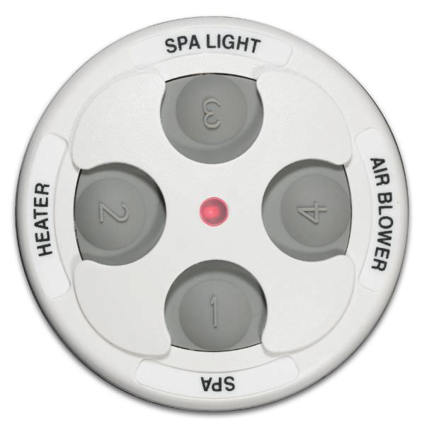 Jandy JDY-30-6437 - Jandy Spa-Side 4 Function Spa Remote - 150 ft - White - 7443