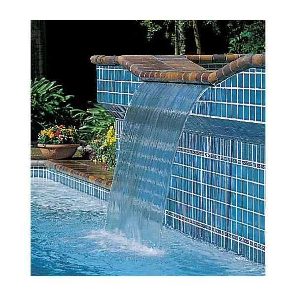 Jandy Sheer Descent 2 Ft Waterfall 1 Inch White Lip - 1102003