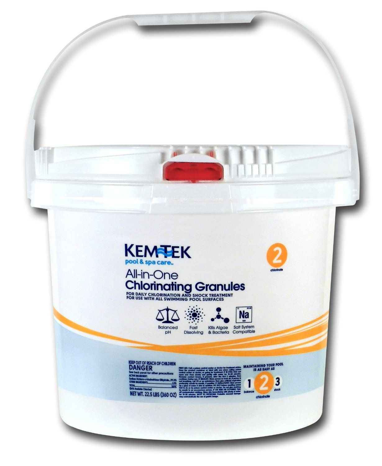 Kem-Tek All In One Chlorinating Granules - Granular Chlorine - 22.5 lbs