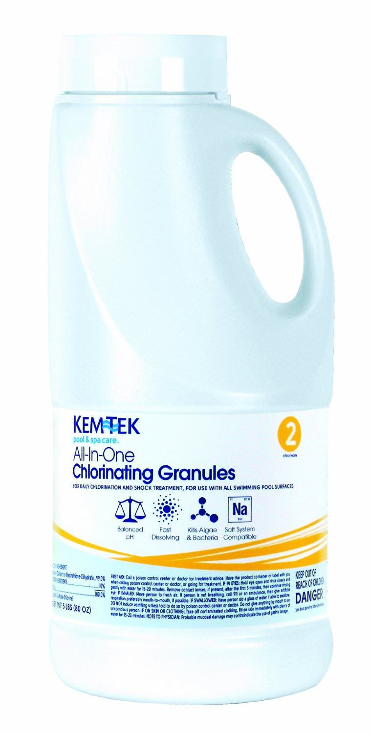 Kem-Tek All In One Chlorinating Granules - Granular Chlorine - 5 lbs