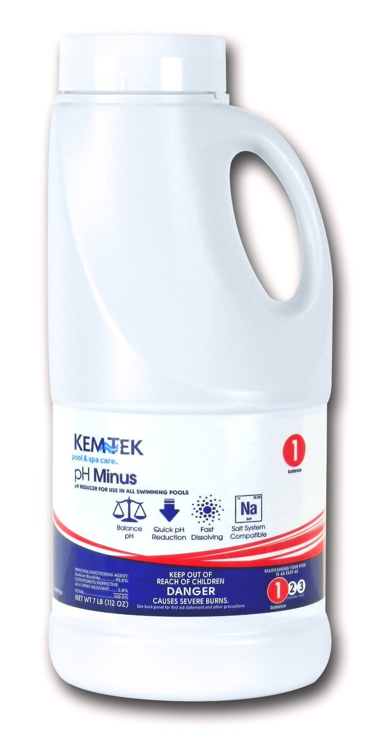 Kem-Tek pH Minus - Dry Acid Pool pH Reducer - 7 lb