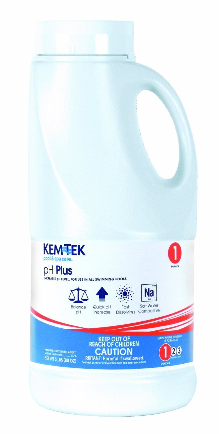 Kem-Tek Pool pH Plus - pH Increaser - 5 lbs