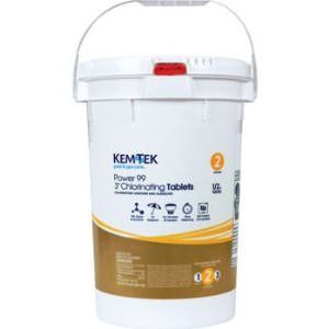 "Kem-Tek Power 99 Individually Wrapped 3"" Chlorine Tablets - 35lb"