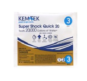 Kem-Tek Super Shock Quick 20 - 20,000 Gallons per Bag - 1 Bag