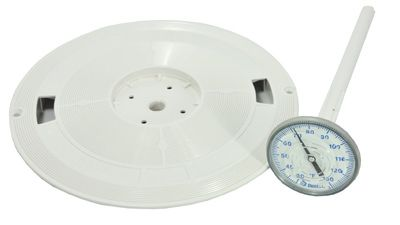 Pentair LET-251-6486 - L1 Skimmer Lid w/ Thermometer SwimQuip, Swimrite, Jacuzzi, Hayward (New Style) 9-7/8""