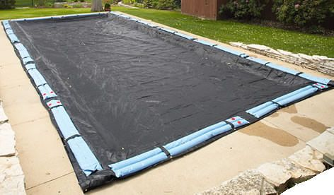 Mesh Winter Cover for 12 ft x 24 ft Rectangle In Ground Pool - 6 Year Warranty