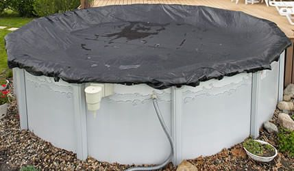 Above Ground Pool 27 / 28 ft Round Mesh Winter Cover - 6 Year Warranty