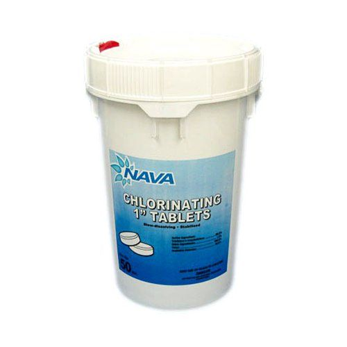 Nava Chlorine 1 Inch Tabs - 50 lb Bucket