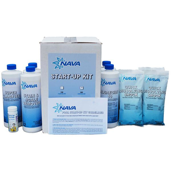 Nava Pool Start Up Chemical Kit - 30,000 Gallon