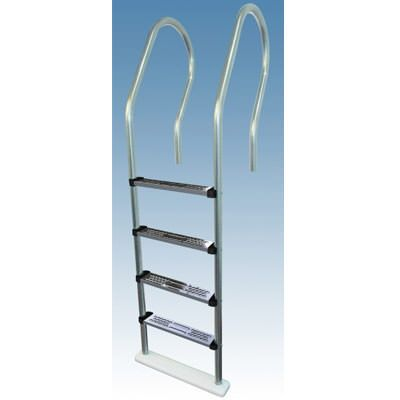 High-Rise Reverse Bend Stainless Steel In-Pool Ladder