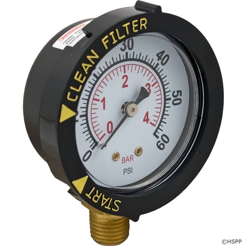 Pentair PAC-051-2883 - Pentair Bottom Mount Pressure Gauge 190058