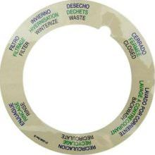 Pentair Tagelus Top Mount Valve Decal 272599