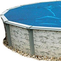 Above Ground Pool Solar Cover 18 Ft x 33 Ft Oval - 8 mil