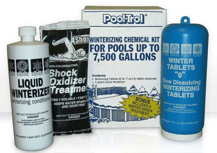 Winter Pool Chemical Kit for 7500 Gallon Swimming Pools
