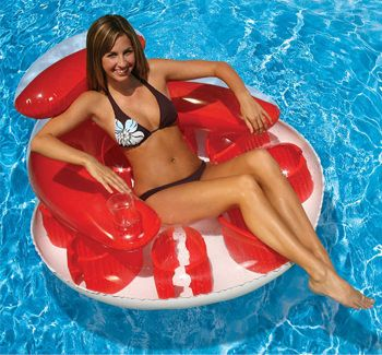Poolmaster Water Pop Circular Lounge - Red