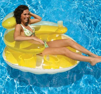 Poolmaster Water Pop Circular Lounge - Yellow