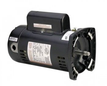 QC1052 1/2 HP Pool Pump Motor 48Y Frame Square Flange 115/230V - Energy Efficient
