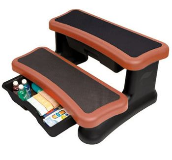 Smart Step Spa Storage Steps - Redwood