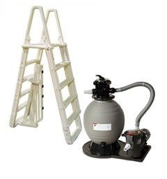 Standard Above Ground Pool Equipment Package w/ 18 Inch Sand Filter