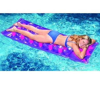 Swimline 76 Inch 18 Pocket Inflatable French Pool Mattress 9035